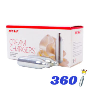 360 CREAM KINGS CREAM CHARGERS