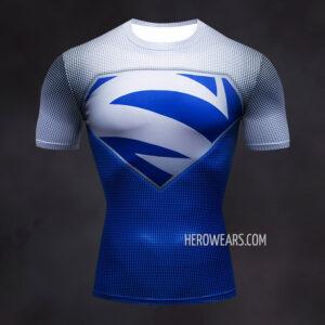 Superman Electric Blue Compression Shirt Rashguard