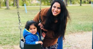 Rupal Srivastava with her child