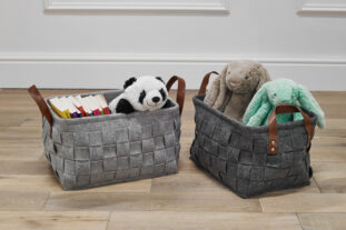 Weaved Felt Rectangular Storage Basket