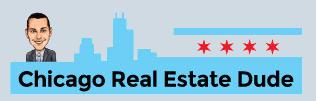 chicago real estate dude logo white