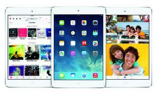 iOS 7 iPad разных поколений: mini, 3, 4 поколения. Особенности.