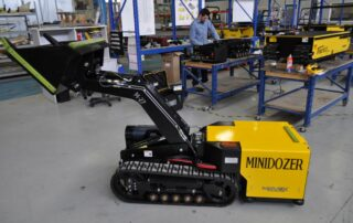 A MINIDOZER 27 in a working environment