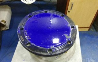 Glass Repair using steel susceptor