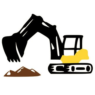 construction vehicle removing oil tank