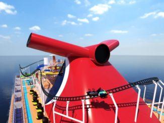Die erste Achterbahn auf See an Bord der Mardi Gras. Grafik: Carnival Cruise Line