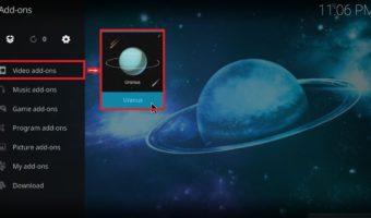 how to use Uranus addon on Kodi