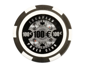 Ficha European Poker Club negra 100