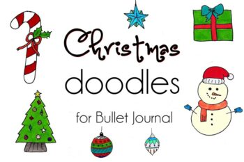 Christmas doodles for bullet journal and creatives