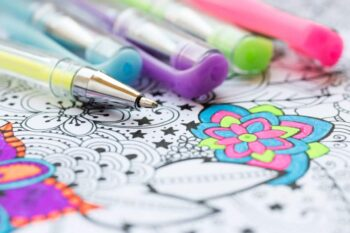 Gel Pens For Adult Coloring