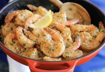 Garlic Shrimp Prawns Plate
