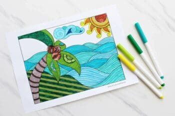 Mindfulness colouring sheets printable