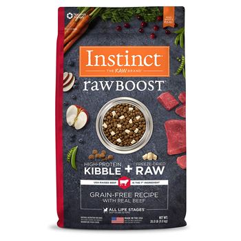 nature variety instinct raw boost dog food