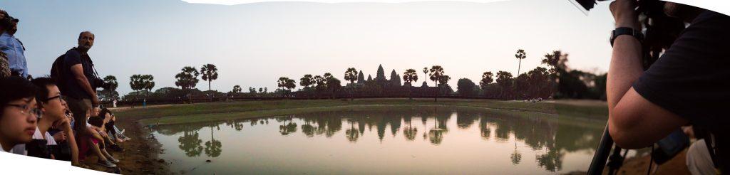 Angkor Wat sunrise panorama
