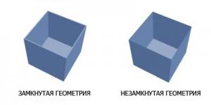 3D модели с замкнутой и незамкнутой геометрией 1