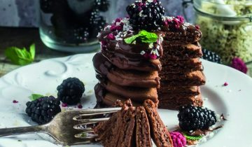 Chocolate Chia Pancakes