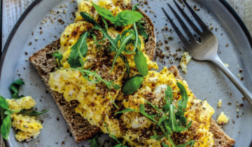 Goats Cheese Scrambled Eggs