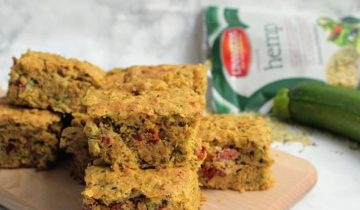 Courgette & Sun Dried Tomato Squares