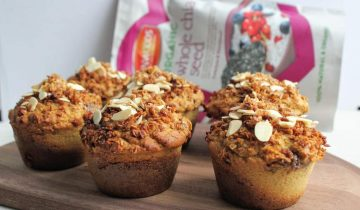 Almond Crumble Muffins & Chia Jam Filling
