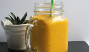 Vibrant Yellow Smoothie
