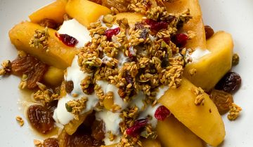 Seasonal Stewed Fruit and Soya Yoghurt