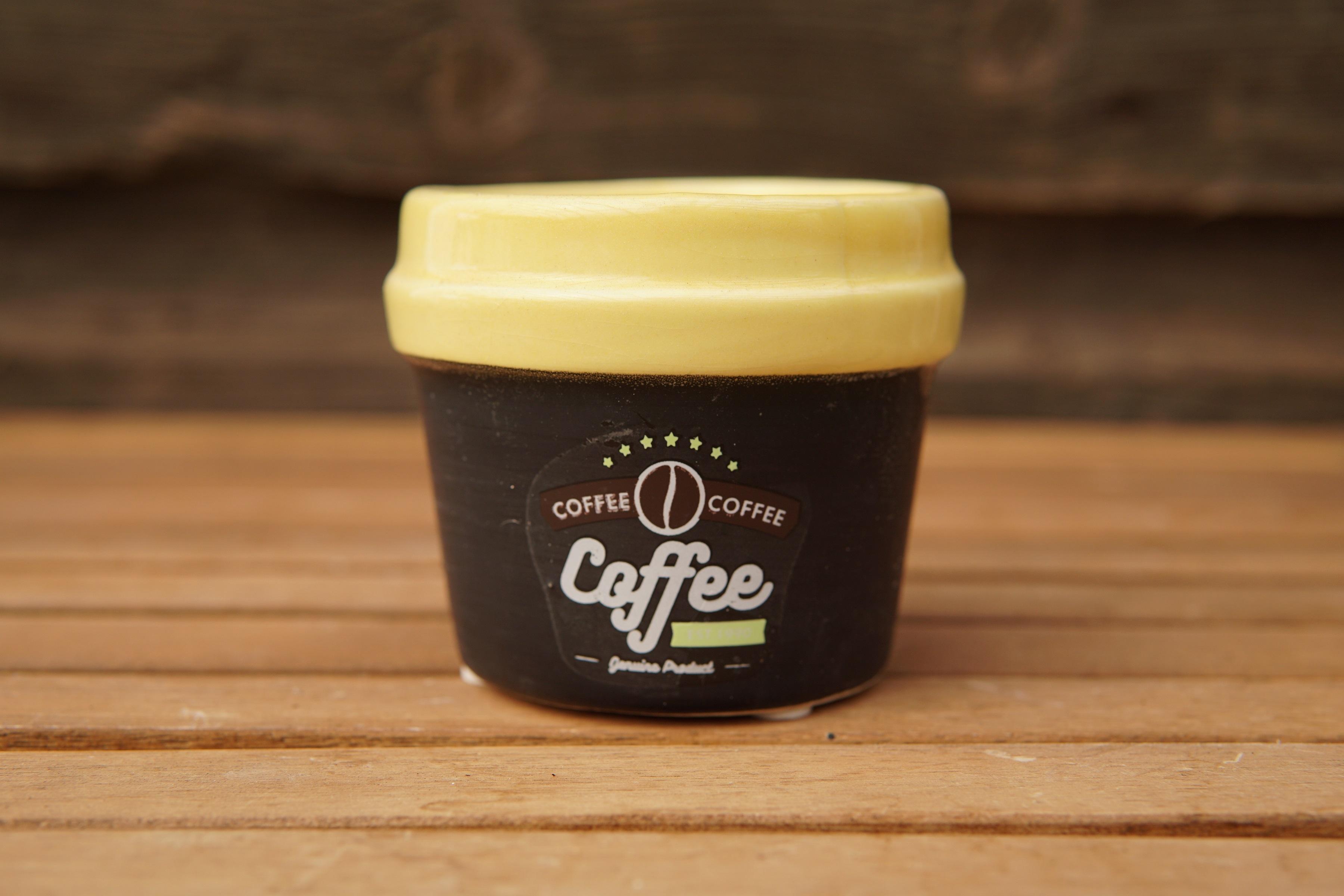 Coffee black yellow planter