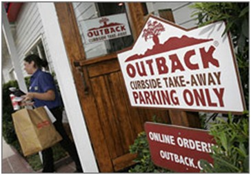 Outback Curbside Parking sign