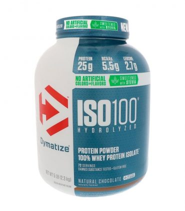 Dymatize, ISO100 Hydrolyzed, 100% Whey Protein Isolate, Natural, 5 lbs (2.3 kg)