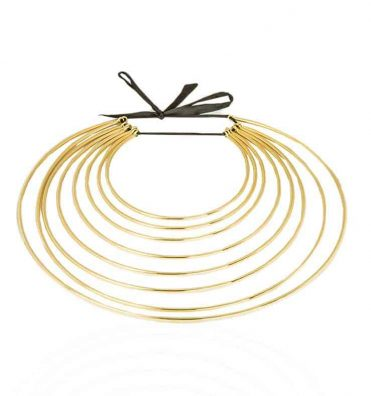 Statement neckpiece, Dhamani Maureen Ribbon2