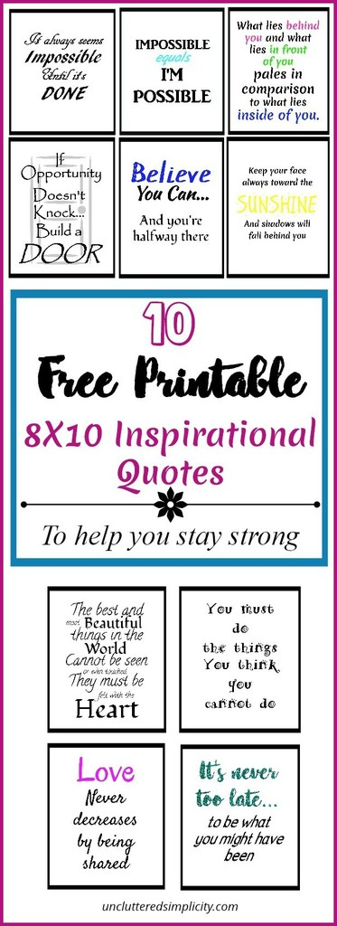 free printable inspirational quotes   free 8X10 printable quotes   printable wall art   inspirational quotes #quotes #printables #freewallart
