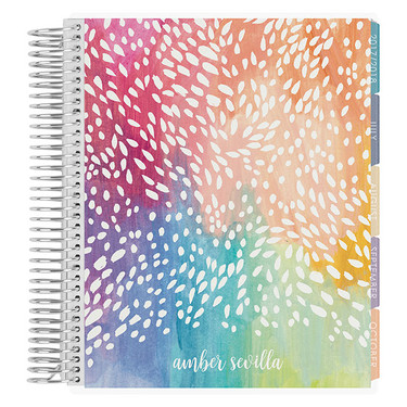 colorful Erin Condren planner