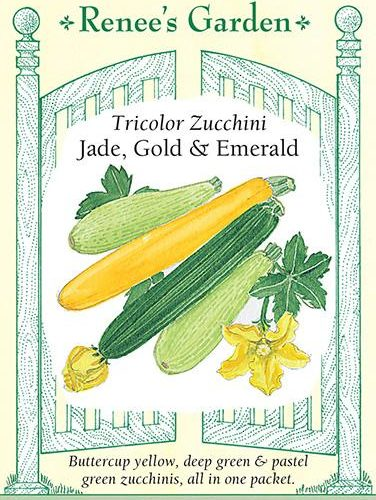 Tricolour Zucchini Jade, Gold and Emerald pack