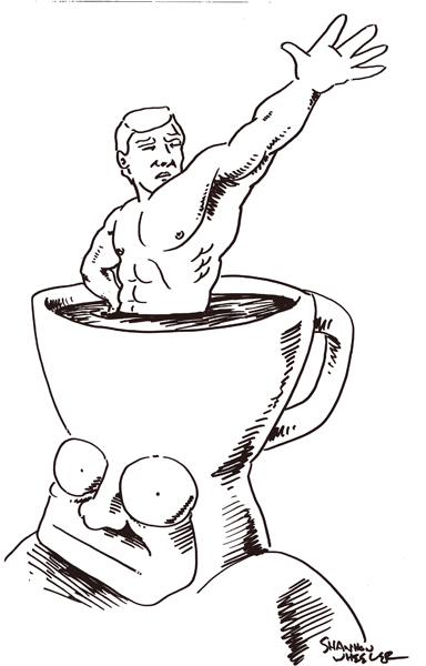 Too Much Coffee Naked Man