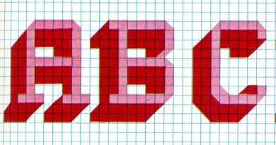 Funky 70s Cross Stitch Alphabet Pattern