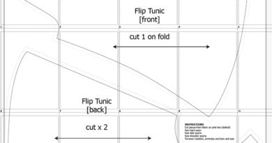 A4 Flip Tunic Pattern