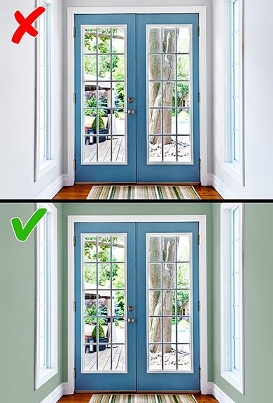 به کارگیری رنگ روشن برای سالن خانه