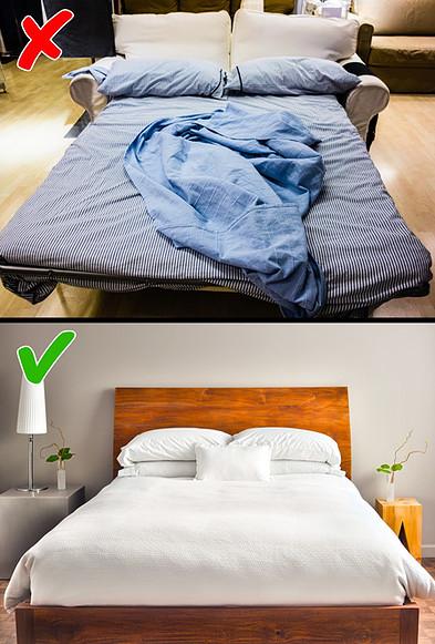 چیدمان صحیح مبل تخت خواب شو اتاق خواب