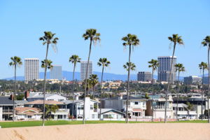 Irvine , California skyline