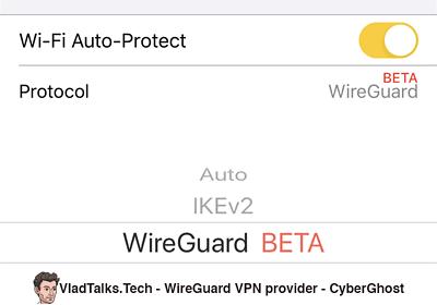 CyberGhost - WireGuard VPN