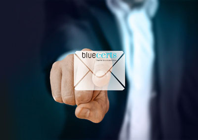Blue Certificate Email
