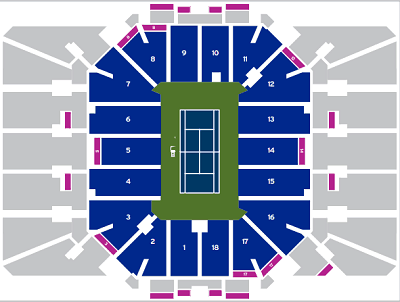 Louis Armstrong Stadium Seat Map
