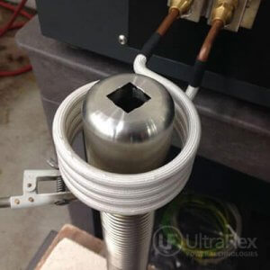 Brazing corrugated tubing to stainless steel pipe
