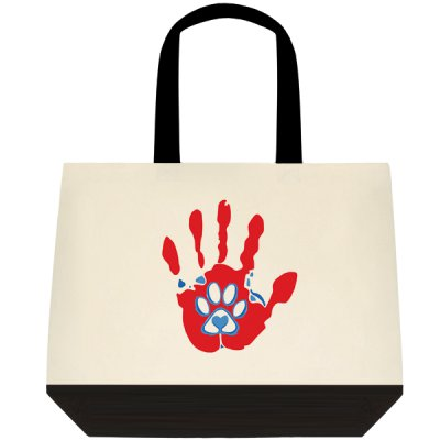 Dual Tone Tote Bag Love for Paws