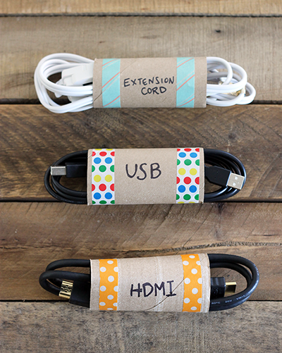 Cord Organizer - organize with recyclable items