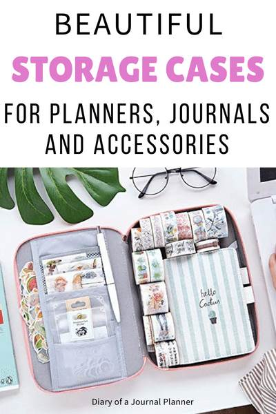 best storage case for planners, journals, accessories and bujo supplies