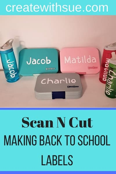 making back to school labels with your Scan N Cut