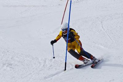 Downhill ski racing