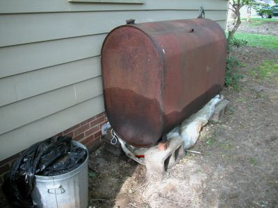 above ground oil tank leaking
