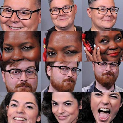 examples from a Tampa headshot photo booth.