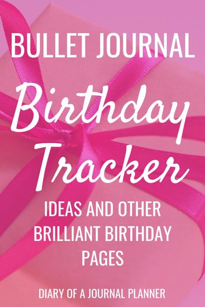 Birthday Tracker Ideas For Bujo
